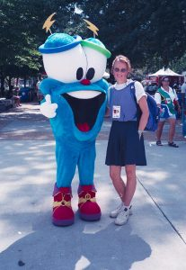 303 – Working as a volunteer in Atlanta Olympic Games inside the Olympic Village (for handball).