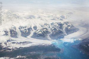 Chugach mountains and columbia glacier and columbia bay