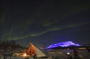 Photo of the week 49 - Luminous Finland 100, Kilpisjärvi