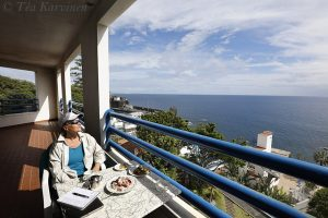 photo of the week 14 - This is me on my balcony in Madeira