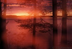 2353 – A double exposure of the sun set