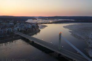 34 - City of Rovaniemi & the Kemijoki river in April