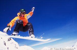 2000 – Snowboarding in Utah (where I lived).