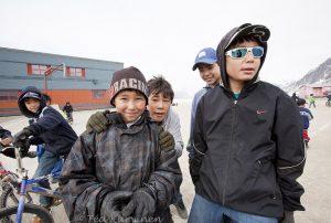 1853 – School kids in the village of Pangnirtung, Nunavut, northern Canada