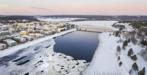 photo of the week 1 – (Kemijoki river in downtown of Rovaniemi at New Years)