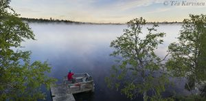 794-795 – Huttujärvi lake around 3 am in the morning