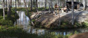 9304-9310 – Muikkupuro, a resting place in Hossa National Park, Finland