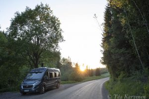 5663 – My summer & fall home (Fiat Adria Twin -camping van) in Sipoonkorpi National Park