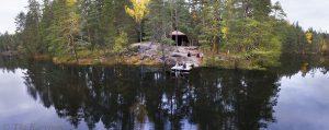 89-91– Vuori-Kalaja -järven rannalla on taukopaikka