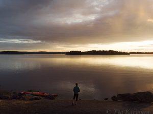 923 – A sun set in Konnevesi archipelago