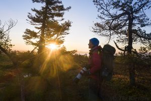 796 – Early morning in Riisitunturi National Park (a selfie)