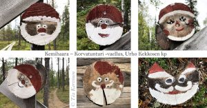On the way to Korvatunturi, the home of Santa Claus (on No Man's Land between Russia & Finland) there are signs on the track.