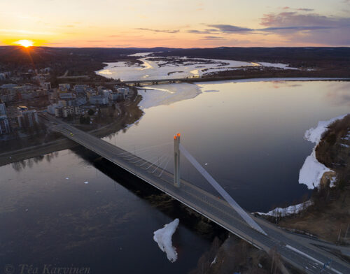 photo of the week 17 – Downtown area of Rovaniemi during the sun set.