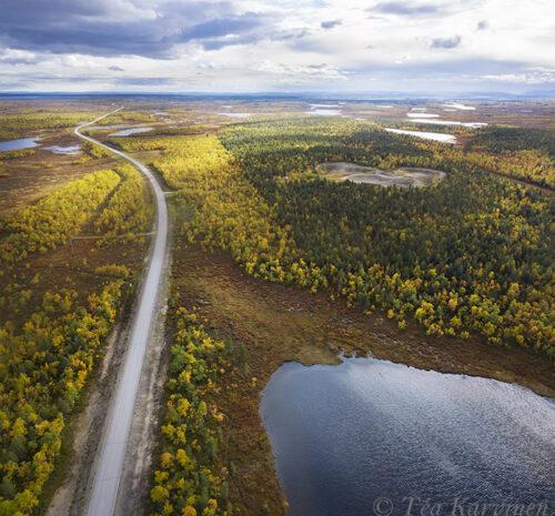 407-408 – The highway # 4 from Inari to Utsjoki