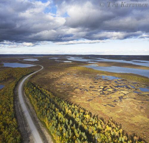 412-413 – The highway # 4 from Inari to Utsjoki