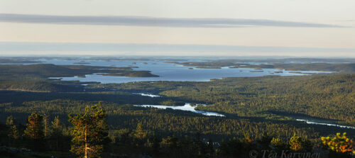 6678-6680 – A view from the fell of Otsamo (lake Inari)