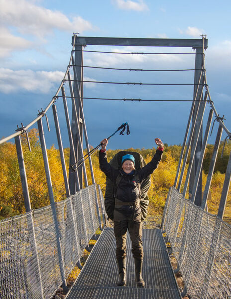1884 – It is done! (About 75 km hiking alone from Sevettijärvi, Inari to Pulmankijärvi, Utsjoki) – Photo by Tarja Länsman