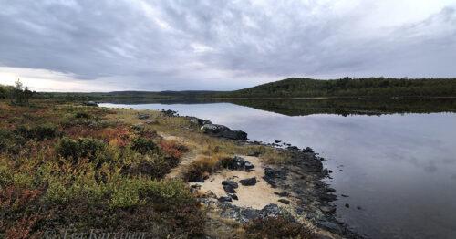 3683-3685 – Opukasjärvi (lake) - 1st night camping when starting @ Sevettijärvi