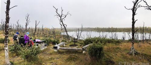 3881-3883 – HIking 75 km Sevettijärvi (Inari) – Pulmankijärvi (Utsjoki) in Kaldoaivi wilderness area.
