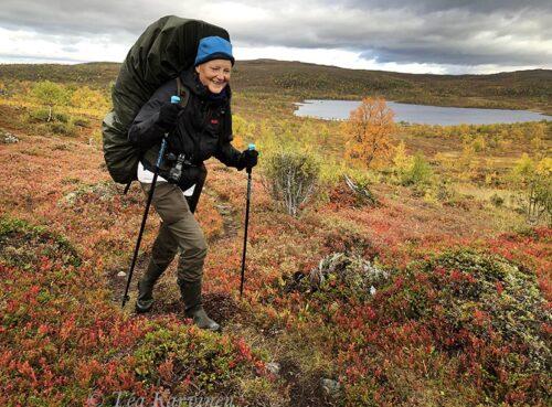 4191 – HIking 75 km Sevettijärvi (Inari) – Pulmankijärvi (Utsjoki) in Kaldoaivi wilderness area.
